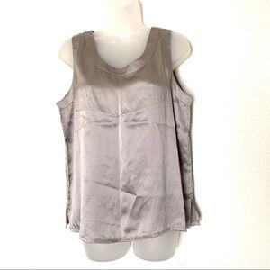 Saks Fifth Avenue Silk Blouse Cami Tank Silver